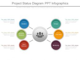 Project Status Diagram Ppt Infographics