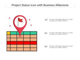Project Status Icon With Business Milestone