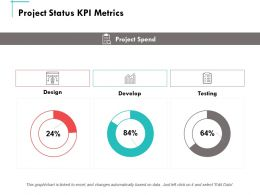 Project Status Kpi Metrics Develop Ppt Powerpoint Presentation Summary Aids