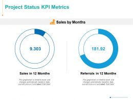 Project Status KPI Metrics Finance Ppt Powerpoint Presentation Inspiration Infographics