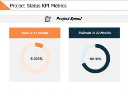 Project Status Kpi Metrics Ppt Powerpoint Presentation File Slideshow