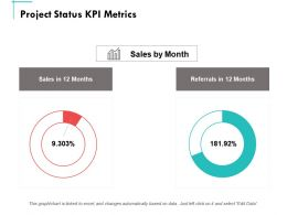 Project Status Kpi Metrics Ppt Powerpoint Presentation Summary Brochure