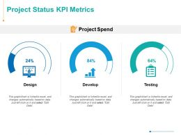 Project Status KPI Metrics Testing Ppt Powerpoint Presentation Inspiration Layouts