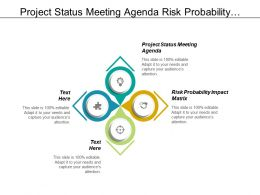 Project Status Meeting Agenda Risk Probability Impact Matrix Cpb