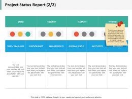 Project Status Report 2 2 Ppt Inspiration Designs