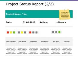 Project Status Report Ppt Background Template