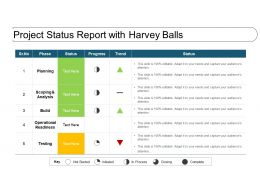 Project Status Report With Harvey Balls