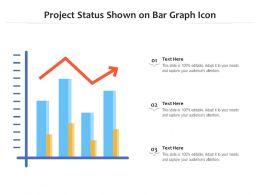 Project Status Shown On Bar Graph Icon