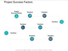 Project Success Factors Ppt Powerpoint Presentation Inspiration Example Introduction Cpb