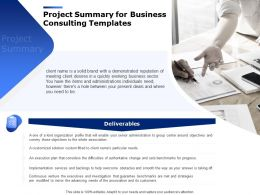 Project Summary For Business Consulting Templates Ppt Powerpoint Presentation Files