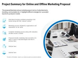 Project Summary For Online And Offline Marketing Proposal Ppt Inspiration