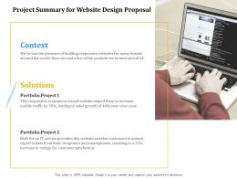 Project Summary For Website Design Proposal Ppt Powerpoint Presentation Slides
