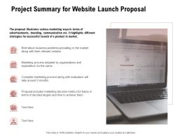 Project Summary For Website Launch Proposal Ppt Powerpoint Presentation Model Slideshow