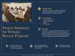 Project Summary For Website Review Proposal Goals Ppt File Example