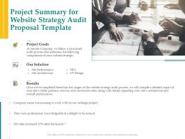 Project Summary For Website Strategy Audit Proposal Template Ppt Powerpoint Themes