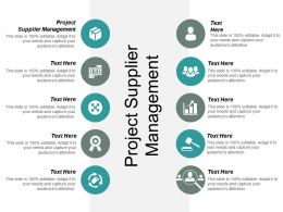 Project Supplier Management Ppt Powerpoint Presentation File Guidelines Cpb
