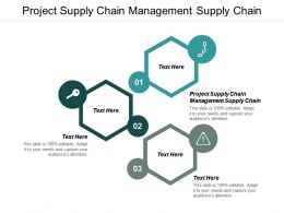 Project Supply Chain Management Supply Chain Ppt Powerpoint Presentation Model Show Cpb