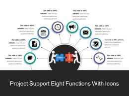 Project Support Eight Functions With Icons