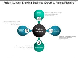 Project Support Showing Business Growth And Project Planning