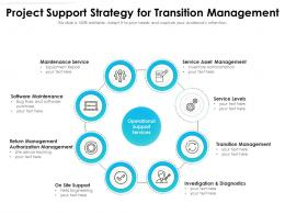 Project Support Strategy For Transition Management