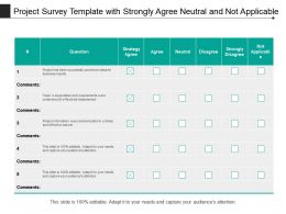 Project Survey Template With Strongly Agree Neutral And Not Applicable