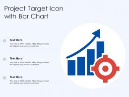 Project Target Icon With Bar Chart