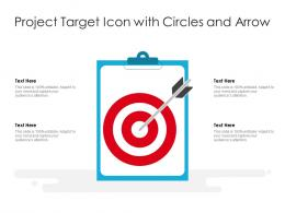 Project Target Icon With Circles And Arrow