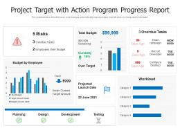 Project Target With Action Program Progress Report
