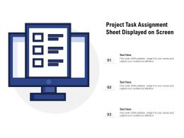 Project Task Assignment Sheet Displayed On Screen
