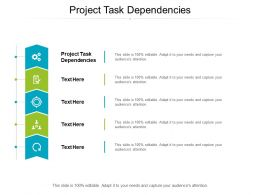 Project Task Dependencies Ppt Powerpoint Presentation Model Clipart Cpb