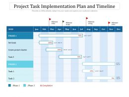 Project Task Implementation Plan And Timeline