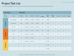 Project Task List Actual M1802 Ppt Powerpoint Presentation Ideas Templates