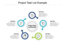 Project Task List Example Ppt Powerpoint Presentation Portfolio Topics Cpb