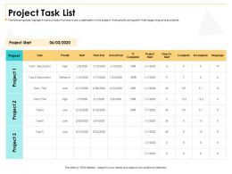 Project Task List M3009 Ppt Powerpoint Presentation Ideas Portrait