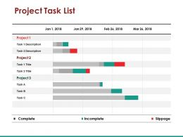 Project Task List Slide Powerpoint Slide Presentation Examples