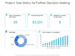 Project Task Status For Further Decision Making