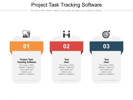 Project Task Tracking Software Ppt Powerpoint Presentation File Brochure Cpb