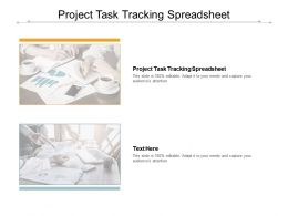 Project Task Tracking Spreadsheet Ppt Powerpoint Presentation Slides Maker Cpb