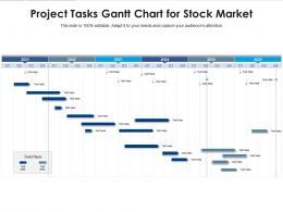 Project Tasks Gantt Chart For Stock Market