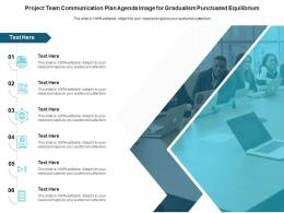 Project Team Communication Plan Agenda Image For Gradualism Punctuated Equilibrium Infographic Template