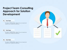 Project Team Consulting Approach For Solution Development