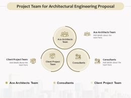 Project Team For Architectural Engineering Proposal Ppt Brochure