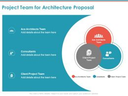 Project Team For Architecture Proposal Ppt Powerpoint Presentation Pictures Slide