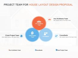 Project Team For House Layout Design Proposal Ppt Pictures Background Images