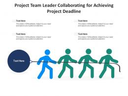 Project Team Leader Collaborating For Achieving Project Deadline Infographic Template