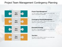 Project Team Management Contingency Planning Management Evaluation Strategy Cpb