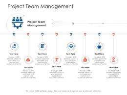 Project Team Management Project Strategy Process Scope And Schedule Ppt Deck
