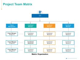Project Team Matrix Functional Resource Management Ppt Powerpoint Presentation Summary Structure