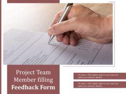 Project Team Member Filling Feedback Form