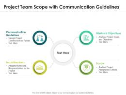 Project Team Scope With Communication Guidelines